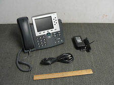 Cisco CP-7965G Color VoIP Display Phone w/Handset & Adapter