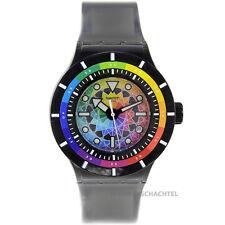 Swatch Uhr Scuba Libre CHROMATIC WATER SUUB401 Silikon Schwarz 20ATM NEU