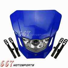 Blue Off Road Dirt Bike Motocross Headlight Lamp For Yamaha TTR250 TTR230 WR250F