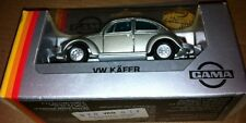 VERY RARE GAMA VW 1302 BEETLE SILVER METALLIC MADE IN GERMANY 1970 MINT IN BOX