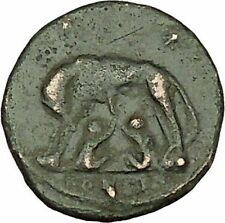 """Constantine I The Great Ancient Roman Coin Romulus & Remus """"Mother"""" wolf i40078"""