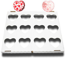 24 Hearts Design Heart Shaped Cupcake Cases with 1 Baking Tray Valentines Love B