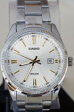 Casio MTP-1302D-7A2V Men's Steel Band Analog Watch Dress with Date Display New