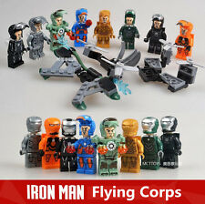 8 SETS HEROES IRON MAN MINIFIGURES COMPATIBLE W/LEGO BUILDINGS BLOCKS TOYS