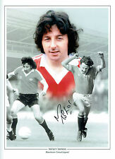 Mickey THOMAS Signed Manchester United 16x12 Autograph Montage Photo AFTAL COA