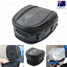 Expandable Scooter Motorcycle Luggage Touring Black Saddle Bags Tail Bag Case
