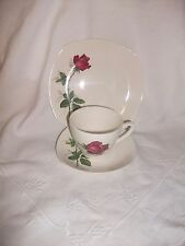 MIDWINTER FASHION ROSE VINTAGE RETRO COFFEE CUP SAUCER & TEA  PLATE TRIO