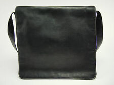 LATICO Daviny Black Colombian Leather Slim Messenger Cross-body Bag