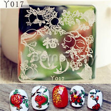 1Pc Pomegranate Fish Pattern Nail Art Stamping Template Image Plate DIY Y017