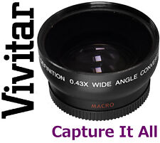 HD WIDE ANGLE  WITH MACRO LENS FOR CANON VIXIA HF M52