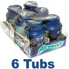Wrigley's 6 Tubs  Chewing Gum AIRWAVES Sugar Free Wrigleys Packs
