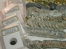 HUGE ESTATE LOT (7)GEM BU 90% SILVER COINS 1940-1963+GOLD PROOF ROMAN WWII #40