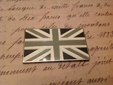 UNION JACK GB CAR BADGE FLAG WITH 3M S/A JAGUAR LAND ROVER CLASSIC CAR BLACK