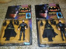 2 LOT 1990 Kenner DC Batman Dark Knight Collection Bruce Wayne Action Figures