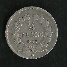 1/4 Franc Louis Philippe 1841 A
