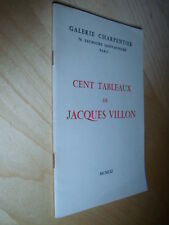 Cent tableaux de Jacques Villon 1961 Catalogue exposition Galerie Charpentier