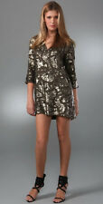 "ANTIK BATIK OLIVE GREEN BEADED ""POPI"" PARTY DRESS 38 S"
