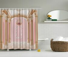 Glamour Fancy Palace Chandelier Graphic Shower Curtain Royal Columns Bath Decor
