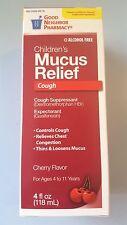 GNP Children's Mucus Relief Cough Suppressant  Chest Congestion Cherry 4 oz