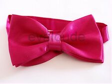 Mens Bright Pink PreTied Bow Tie Adjustable Tuxedo Dickie Wedding Prom NEW UK