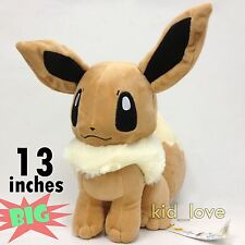 "Pokemon Eevee Plush Soft Toys Stuffed Animal Character Doll Teddy 13""/33 So BIG!"