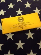VINTAGE PENNSYLVANIA COUNCIL OF REPUBLICAN WOMEN MEMBERSHIP RECEIPT BOOKLET