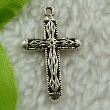 Free Ship 100 pcs tibet silver cross charms 31x20mm #2597