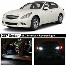 15x White Interior + Reverse LED Light Package 2007-2014 G35 G37 Sedan + TOOL