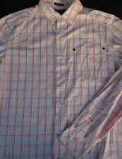 Sean John Mens Button Front Long Sleeve Cotton Plaid Shirt Large L