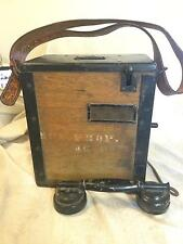Antique EE 3 B Military Phone Radio Signal Corps US ARMY WWI Field Telephone vtg