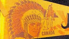 VINTAGE 1960s JASPER PARK CANADA PENNANT OLD INDIAN CHIEF TRAVEL SOUVENIR BANNER