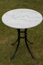 White Marble Top Bistro Table 60cms Round - For Domestic or Commercial Use