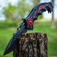 """9"""" DRAGON FLAME Tactical Ninja SPRING ASSISTED OPEN Cosplay Folding POCKET KNIFE"""