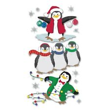 "***BRAND NEW** Christmas Jolee's Boutique ""3D Penguin Dimensional Stickers"""