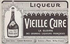 """PUBLICITE """" VIEILLE CURE """" CENON   ALCOHOL AD  1913 -1H"""