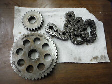 "1995 SKI-DOO SKIDOO SUMMIT 670 136"" CHAIN CASE CHAIN & SPROCKETS 43T 23T"