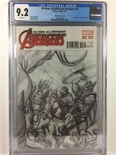 All-New All-Different Avengers #1 Alex Ross 1:150 Sketch Variant CGC 9.2