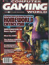 Computer Gaming World Magazine April 2000 Homeworld Catalysm Wolfenstein 3D