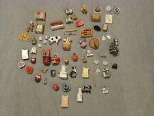 Huge Lot 60+ Dollhouse Miniature Items Fruit Phone Ice Skate Kitchen Metal Wood