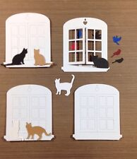4 WINDOW DIE CUTS that actually open! & 6 CATS AND 6 BIRDS