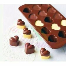 Cute Love Heart Model Ice Cube Chocolate Cake Jelly Tray Candy Silicone Mold DIY