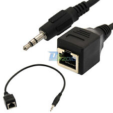 "3.5mm 1/8"" male jack TRS Audio Cable to RJ45 socket Ethernet Adapter Cable Wire"