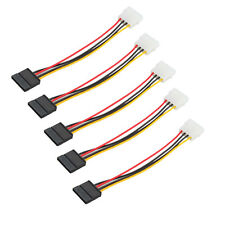 5 PCS 4-Pin IDE to Serial 15 Pin ATA SATA HDD Power Adapter Cable