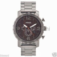 Fossil Original JR1355 Men's Nate Smoke Stainless Steel Watch 50mm