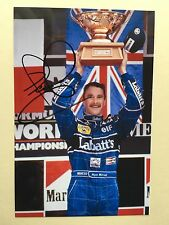 "formula 1 nigel mansell signed 6"" x 4"" photograph"