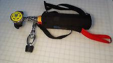 H2Odyssey never use Scuba Diving Backup Air tank with adapter and bag James Bond