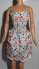 DRESS ONLY~ MATTEL BARBIE DOLL FASHION AVENUE FLORAL LACE TRIM DRESS ACCESSORY