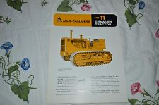 Allis Chalmers HD-11 Crawler Tractor Dealers Brochure YABE11 Ver39