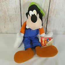 Goofy Plush 19 Inches Disney for Kids Matel Blue Overals Green Cap With Tag