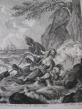 1881 Eau-Forte illustration contes La Fontaine sur Hollande Monnet T. de Mare